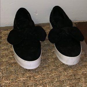 Rebecca Minkoff Black Suede Slip on Sneakers